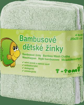 T-TOMI Kúpacia žinky, 4 kusy, zelená / biela