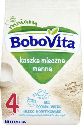 BOBOVITA Kaszka mleczna manna 4m+ (230 g)