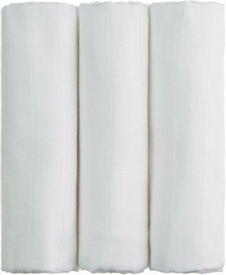T-TOMI Bambusové plienky, súprava 3 ks, biela