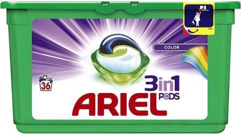 ARIEL Color 3v1 Gelové Kapsle - 36 praní