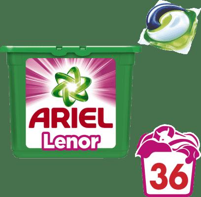 ARIEL Touch of Lenor Fresh 3v1 (36ks) – gélové pracie kapsuly