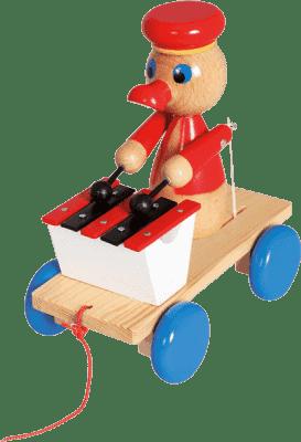 BINO Kaczor z ksylofonem - zabawka do ciągnięcia