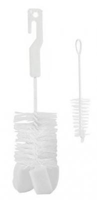 CANPOL BABIES 2/410 Kefa na čistenie fliaš s hubkou - biela - rôzne druhy