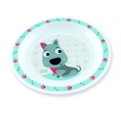 CANPOL BABIES Plastový talíř CUTE ANIMALS - pejsek