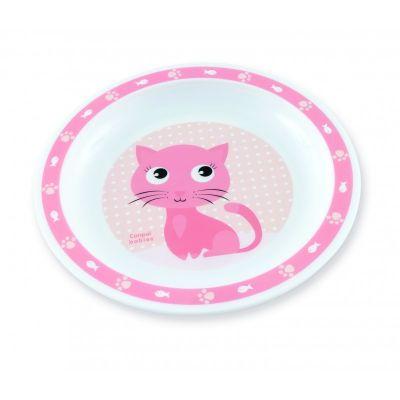 CANPOL BABIES Plastový talíř CUTE ANIMALS - kočička