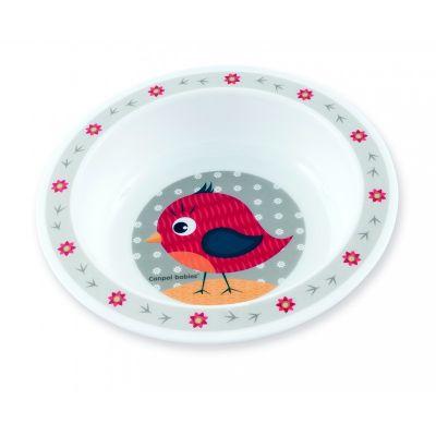CANPOL BABIES Plastová miska CUTE ANIMALS – vtáčik (270 ml)