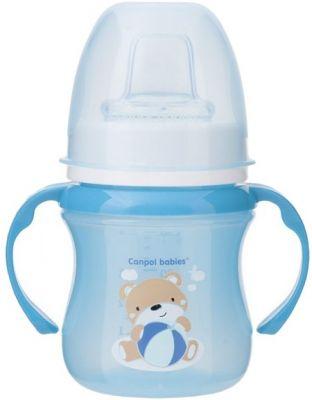 CANPOL BABIES Kubek treningowy SWEET FUN 120 ml - niebieski