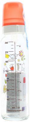 CANPOL BABIES Láhev sklo s potiskem 250 ml- červená