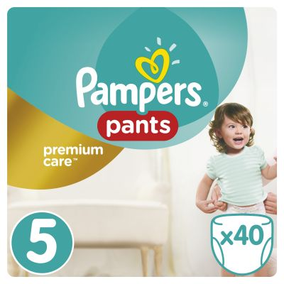 PAMPERS Premium Care Pants 5 JUNIOR 40 ks (12-17 kg) - plienkové nohavičky