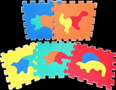 WIKY Pěnové puzzle Dinosauři 10 ks