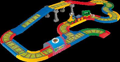 WADER Kid Cars - Železnice s městem - 4,1m WADER