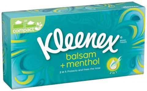 KLEENEX Papírové kapesníky - Balsam Fresh Box (72 ks)