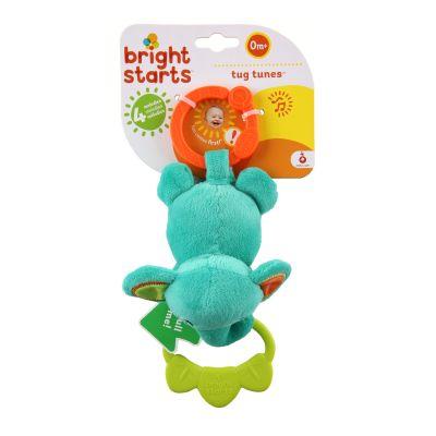 BRIGHT STARTS Hračka na C kroužku Tug Tunes s melodií - slon
