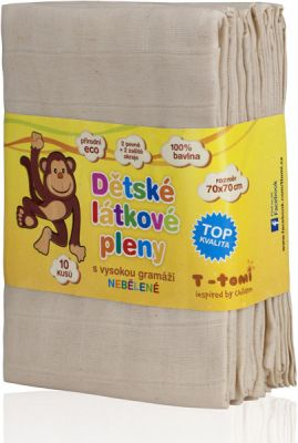 T-TOMI ECO nebělené látkové pleny 10 ks - Top kvalita