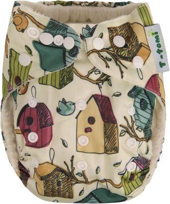 T-TOMI Bambusová nohavičková plienka AIO + 2 bambusové vkladacie plienky, vtáčia búdka