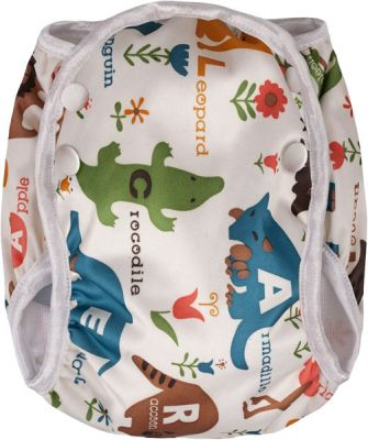 T-TOMI Plienkové plavky, biela safari, veľkosť M