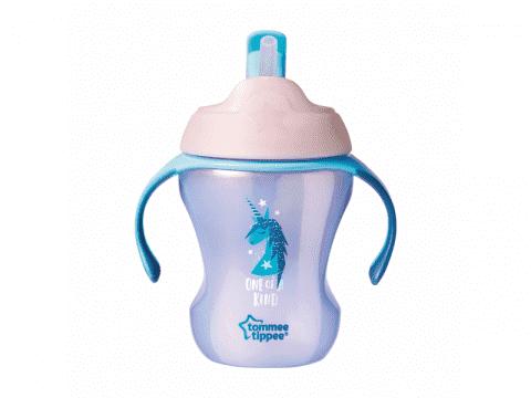TOMMEE TIPPEE Netekoucí hrnek s brčkem Explora Easy Drink 6 m+, 230 ml-dívka