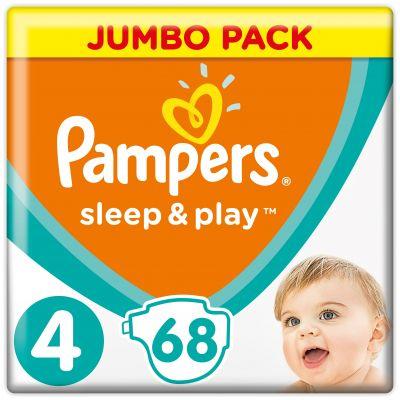 PAMPERS Sleep&Play 4 MAXI 68ks (9-14 kg) JUMBO PACK - jednorázové pleny