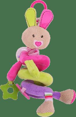 BIGJIGS Textilní postavička - Spirála králíček Bella