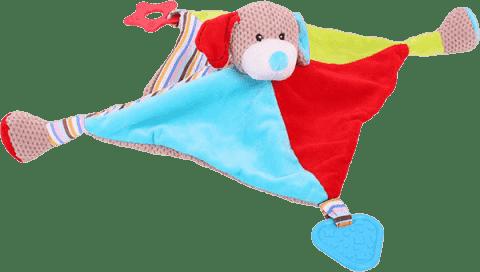 BIGJIGS Textilní hračka - Pejsek Bruno s kousátky