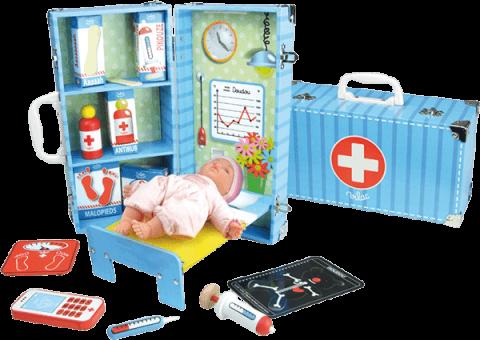VILAC Dřevěné hračky - Zdravotnický set v kufříku