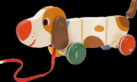 VILAC Dřevěná hračka - dřevěný tahací pejsek