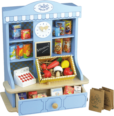 VILAC Drevené hračky - Detský obchod modrý