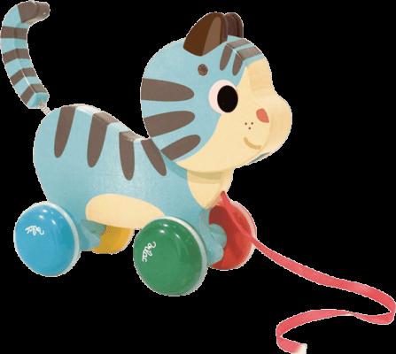 VILAC Dřevěná tahací kočička