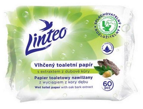LINTEO Satin Dubová kůra 60 ks - vlhčené toaletní ubrousky