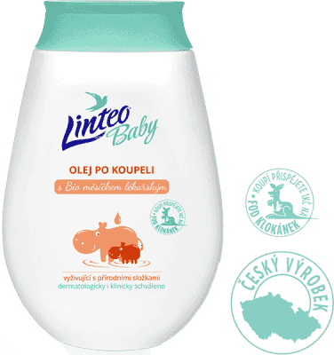 LINTEO BABY Dětský olej po koupeli - sensitive