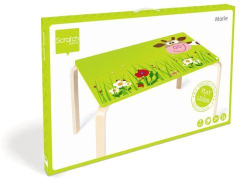SCRATCH Dřevěný dětský stůl Kravička