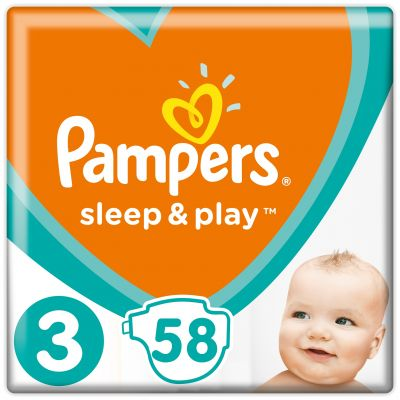 PAMPERS Sleep & Play 3 MIDI 58ks (6-10 kg) - jednorazové plienky