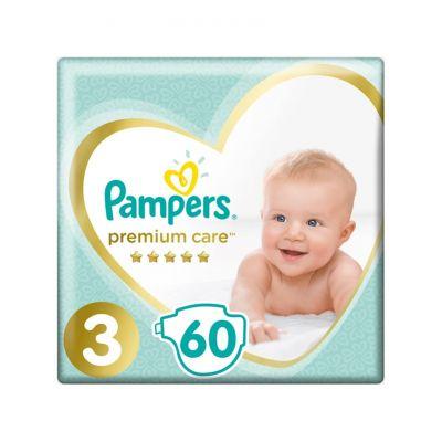 PAMPERS Premium Care 3 MIDI 60 ks (6-10 kg) - jednorázové pleny