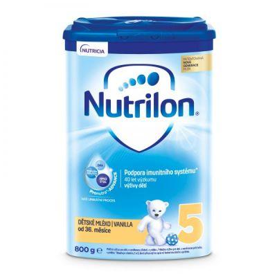 NUTRILON 5 Vanilla dětské mléko 800 g, 36+