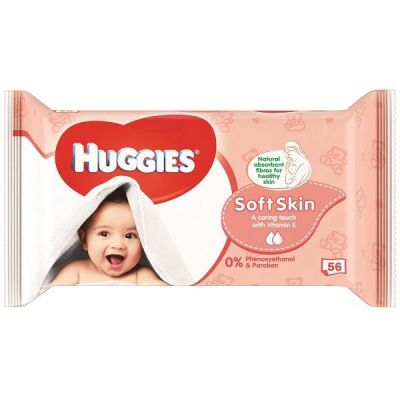 HUGGIES® Single Soft Skin 56 ks - vlhčené ubrousky