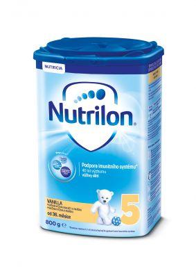 3x NUTRILON 5 ProNutra s příchutí vanilky (800g) - kojenecké mléko