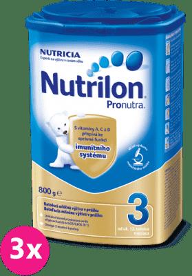 3x NUTRILON 3 ProNutra (800g) - dojčenské mlieko
