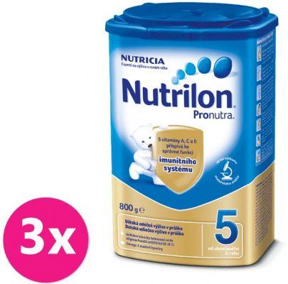 3x NUTRILON 5 ProNutra (800g) - dojčenské mlieko