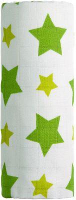 T-TOMI Bambusová osuška 100x 80 cm, 1 ks, zelené hvězdičky