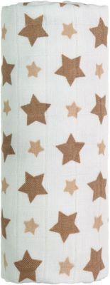 T-TOMI Bambusová osuška, 1 kus, béžové hvězdičky