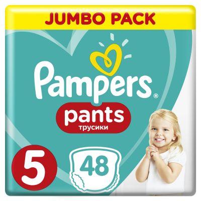 PAMPERS Pants 5, 48ks (12-18kg) JUMBO Pack - plenkové kalhotky