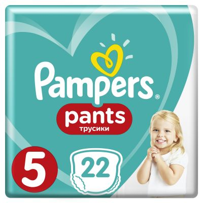 PAMPERS Pants 5, 22ks (12-18kg) CARRY Pack - plenkové kalhotky