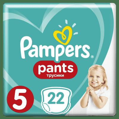 PAMPERS Pants 5, 22ks (12-18kg) CARRY Pack - plenkové kalhotky
