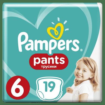 PAMPERS Pants 6, 19 ks (15+ kg) CARRY Pack - plenkové kalhotky