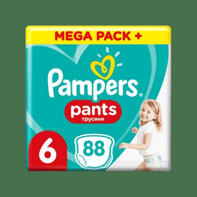 PAMPERS Pants 6, 88 ks (15+ kg) MEGA Box - plienkové nohavičky