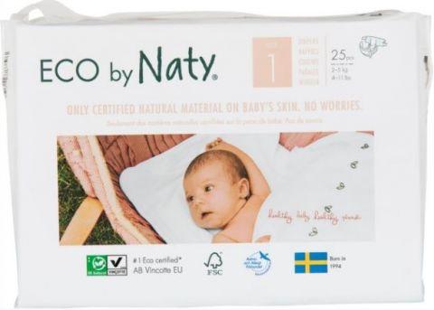 NATY NATURE BABYCARE 1 NEWBORN, 25 ks (2-5 kg) - jednorázové pleny