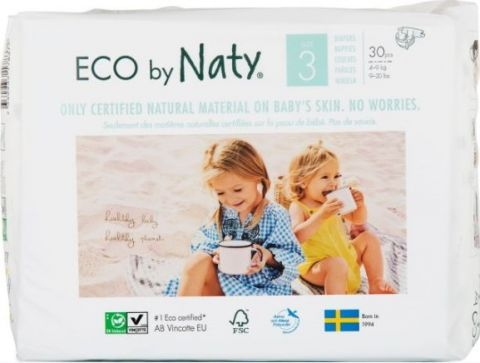 NATY NATURE BABYCARE 3 MIDI, 30 szt. (4-9 kg) - pieluchy jednorazowe