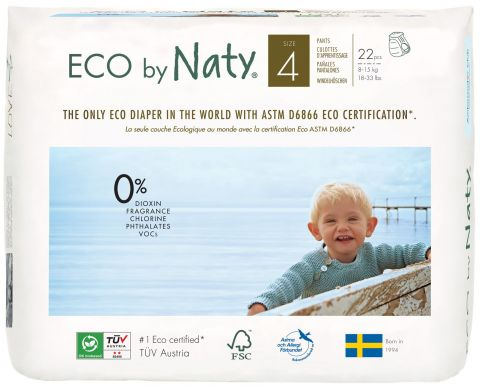 NATY NATURE Babycare 4 Maxi 22 szt. (8-15 kg) – ekologiczne pieluchomajtki