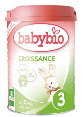 BABYBIO Croissance 3 rastové mlieko v prášku (900 g)