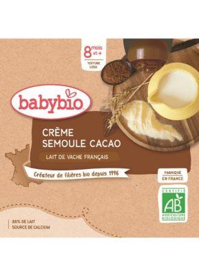BABYBIO Kapsička krém kakao krupička (4x 85 g)